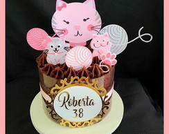 Cake topper Gatos