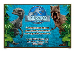 Convite Digital Jurassic World