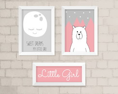 Kit Quadros Infantil Little Girl