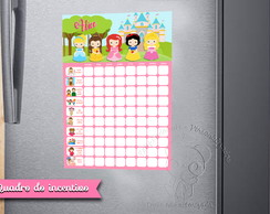 Quadro do Incentivo Princesas