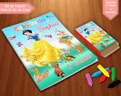 Kit de Colorir - Branca de Neve