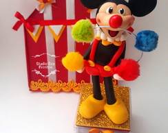 Caixa circo do mickey 17 cm de altura