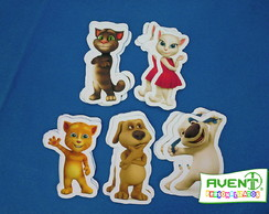 Kit c/ 20 Apliques do tema TALKING TOM