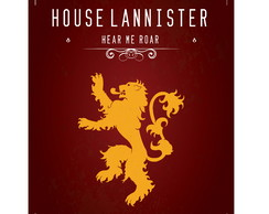 Poster Game of Thrones - House Lannister