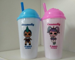 Copo Twister c/Tampa Chantilly 500ml Personalizado