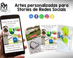 Arte digital personalizada para stories redes sociais