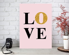 Arte Digital Poster p/ quadro decorativo - Love
