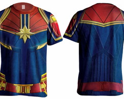 Camiseta Uniforme Capitã Marvel