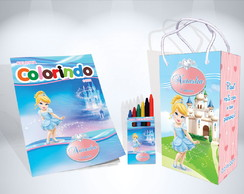 Kit de Colorir Cinderela Baby Cute + Brindes