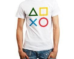 Camiseta Camisa Playstation 1 Logo Games Ps1 Personalizada