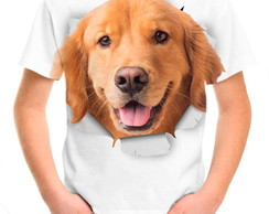 Camiseta Infantil - Cão Golden Retriever