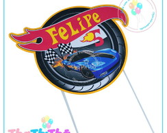 Topper para Bolo Hot Wheels