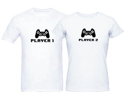 Kit Camisetas Casal Nerd Player 1 Player 2