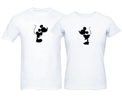 Kit Camisetas Casal Disney Mickey e Minnie