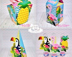 Kit Festa Tropical Flamingo