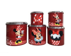 Porta Mantimentos Da Minnie/mickey DOCES 5pçs