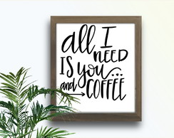 Quadro Decorativo Frase Café Coffee