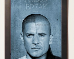 Quadro Poster Com Moldura Serie Prison Break Fox