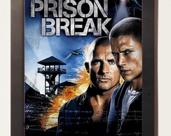 Serie Prison Break Fox Quadro Poster Com Moldura