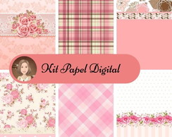 KIT PAPE DIGITAL - FLORES ROSA