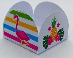 100 forminhas de doces festa tema Flamingo tropical