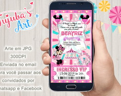 Convite Digital Parque da Minnie para Whatsapp