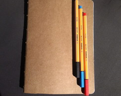 Journal :: Caderno A5 Kraft - quadriculado