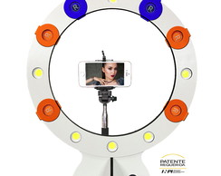 Iluminador Ring Light New Maxx Com Lentes Monopod E Controle