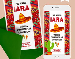 Convite Digital Mexicano / Imprimir WhatsApp R.115