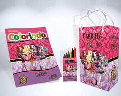 Kit de Colorir Ever After High Lembrança + Brindes