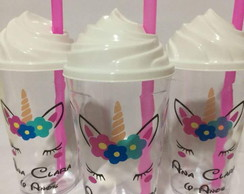 Copo Twister Chantilly Tampa e Canudo Personalizado 500ML