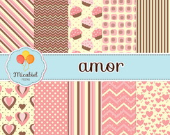 Papel Digital - Amor (cupcake)