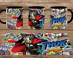 Caneca Colorida - Marvel: Thor