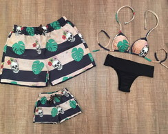 e2696561d5f22b Kit Moda Praia Familia Personalizado Piscina | Elo7