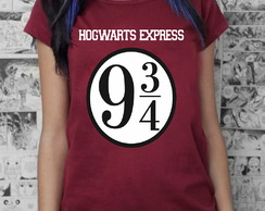 "Babylook Harry Potter ""Expresso 9 3/4"" Bordô"