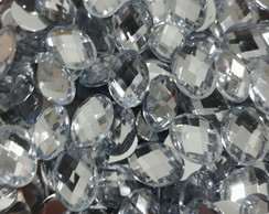 Chaton Oval Cristal 13x18mm 50 Unid