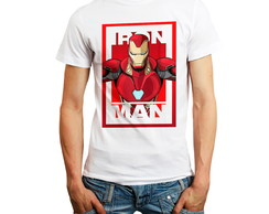 Camiseta Personagem Herói Iron Man Camisa Personalizada