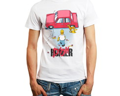 Camiseta Simpsons Homer Série tv carro Camisa Personalizada