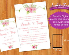 Convite Digital Casamento Whatsapp + Save The Date