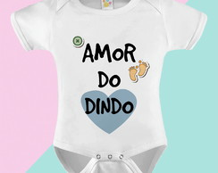 Body Bebê Amor do Dindo
