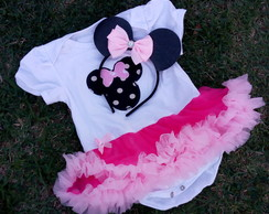 Kit PRONTA ENTREGA roupa Smash the cake Minnie Rosa