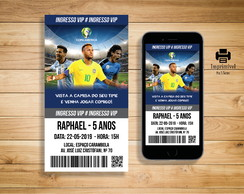 Convite Digital Copa América Ingresso - DIGITAL