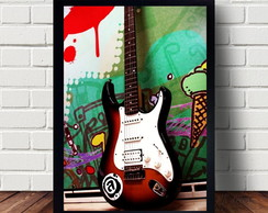Poster Decorativo Guitarra