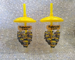 COPOS TWISTER 500ML PERSONALIZADOS- TEMA MINIONS!!