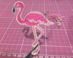 PATCH BORDADO FLAMINGO TERMOCOLANTE