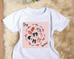 Camiseta Infantil Dog Lovers