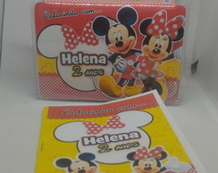 kit colorindo mini estojo + mini revista Mickey e Minnie