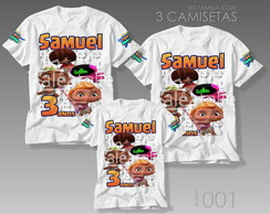 Kit 3 Camisetas Beat Power Rockers Personalizada Aniversário