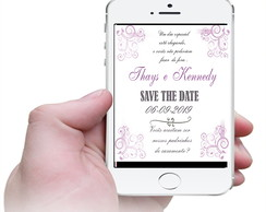 Convite virtual Save The Date - Casamento