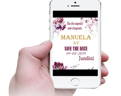 Convite virtual Save The Date - Marsalla